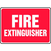 "Accuform MFXG588VS Fire Extinguisher Sign, 14""W x 10""H, Adhesive Vinyl"