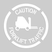 "Accuform PMS209 Floor Stencil - Caution Forklift Traffic - 20"" x 20"""