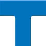 "Accuform PTP207BU Tough-Mark™ Heavy-Duty Floor Marking Shape, 6""x6"" T-Corner, Blue"