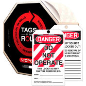 Accuform TAR125 Danger Do Not Operate Tag, PF-Cardstock, 250/Roll