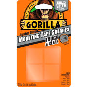 Gorilla Clear Mounting Tape Squares, 24 per Pack - Pkg Qty 6