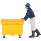 "UltraTech Ultra-Utility Box® 0864 48 x 31 x 38 Safety Orange 5"" Rubber Wheels"