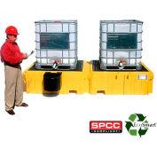 UltraTech Ultra-Twin IBC Spill Pallet® 1142 - No Drain with 1 Left Side Bucket Shelf