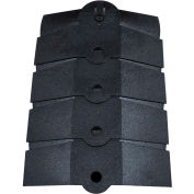 """UltraTech 1833 Ultra-Sidewinder®, Cable Protector , Medium, 14 1/8"""" x 9 3/4"""" x 1 3/8"""", Black"""