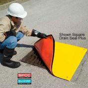 """UltraTech 2174 Ultra-Drain Seal Plus®, Circular, 12"""" dia., Orange/Yellow"""
