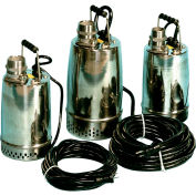 """AMT 02X11 Submersible Pump, 2"""" Out, 304 Stainless Steel, SIC/CAR/CER Seal, 1hp, 115v, 10 Amps"""