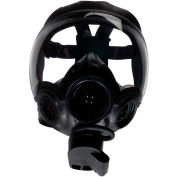 MSA Millennium Riot Control Full Facepiece Gas Mask, Clear Lens, Medium, 10051287