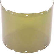 "MSA V-Gard® Visor, PC, Shade 3 IR, Molded, 8""W x 17""L x .098""H, Use With Chin Protectors - Pkg Qty 5"