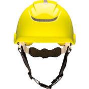 MSA Nexus Linesman Helmet, Non-Vented, Yellow, 10186480