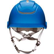MSA Nexus Heightmaster Helmet, Vented, Blue, 10186490