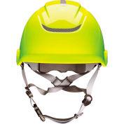 MSA Nexus Heightmaster Helmet, Vented, Hi-Viz Yellow, 10186494