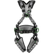 V-FIT™ 10195174 Construction Harness, Back, Chest & Hip D-Rings, Tongue Buckle Leg Straps, XL
