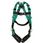 V-FORM™ 10197437 Harness, Back, Chest & Hip D-Rings, Qwik-Fit Leg Straps, Extra Large