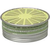 MSA Comfo® Respirator Cartridges, Multigas, 10/Box, 492790