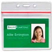 "Baumgartens® Sealable Badge Holder, Horizontal, 3-3/4"" x 2-5/8"", 50/Pack"