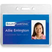 "Baumgartens® ID Badge Holder, Horizontal, 3-1/2"" x 2-1/2"", Clear, 12/Pack"