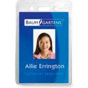 """Baumgartens® ID Badge Holder, Vertical, 2-1/2"""" x 3-1/2"""", Clear, 12/Pack"""