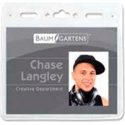 "Baumgartens® ID Badge Holder, Horizontal, 4"" x 3"", Clear, 50/Pack"