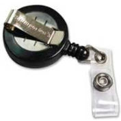 "Baumgartens® Card Reel with Belt Clip, 30"" Cord, 25/Box"