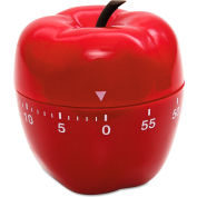 Baumgartens® Apple Shaped Timer, Up to 60 Minutes, Red, 1 Each