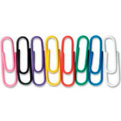 Baumgartens® Jumbo Non-Skid Vinyl-Coated Paper Clips, Assorted, 40/Pack
