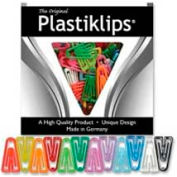 """Baumgartens® Plastiklips Paper Clips, Small, 7/8"""" x 7/16"""", Assorted, 1000/Box"""