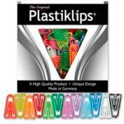 """Baumgartens® Plastiklips Paper Clips, Large, 1-3/8"""" x 7/8"""", Assorted, 200/Box"""