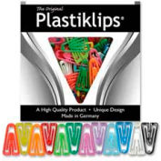 "Baumgartens® Plastiklips Paper Clips, X-Large, 2-3/8"" x 1-5/16"", Assorted, 50/Box"