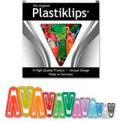 Baumgartens® Plastiklips Paper Clips, Assorted Sizes and Colors, 315/Box