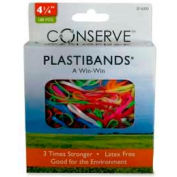 "Baumgartens® Latex Free Plastibands, 4-1/4"" Length, Assorted Colors, 100/Box"