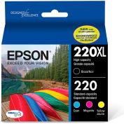 Epson® T220XLBCS (220XL) DURABrite Ultra High-Yield Ink, Black/Cyan/Magenta/Yellow