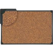 "Universal® Tech Cork Board - 24"" x 18"" - Rubber-Cork Surface with Black Plastic Frame"