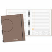 AT-A-GLANCE® Planning Notebook with Reference Calendar, 9 3/16 x 11, Gray - 70620930