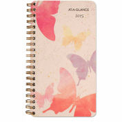 AT-A-GLANCE® Watercolors Weekly/Monthly Planner, 3 3/6 x 6 3/4, Watercolors, 2016 - 791300G