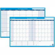 AT-A-GLANCE® 30/60-Day Undated Horizontal Erasable Wall Planner, 36 x 24, White/Blue, - PM23328