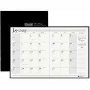 House of Doolittle™ Ruled 14-Month Planner w/ Leatherette Cover, 7x10 Black, 2017-2019, 260602