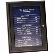 "United Visual Products 18""W x 24""H Magnetic Strip Letter Board Board with Dark Blue Strips"