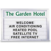 """United Visual 72""""W x 48""""H Single Sided Outdoor Illuminated Readerboard with Satin Aluminum Frame"""