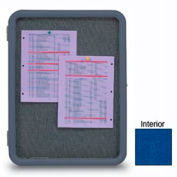 """United Visual Products 18""""W x 24""""H Image Enclosed Cobalt Accent Fabricboard with Gray Frame"""
