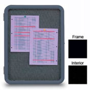"United Visual Products 24""W x 36""H Image Enclosed Black Fabricboard with Black Frame"