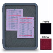 """United Visual Products 24""""W x 36""""H Image Enclosed Burgundy Fabricboard with Black Frame"""