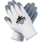 MCR Safety 9674XL Ultra Tech Foam Seamless Nylon Knit Gloves, X-Large, White/Gray, 12 Pairs