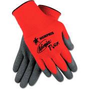 MCR Safety N9680XXL Ninja Flex Latex Coated Palm Gloves N9680L, 2X-Large, Red/Gray, 12 Pairs