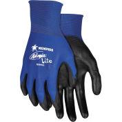 MCR Safety N9696S Ninja® Lite Nylon PU Coated Glove, 18-Gauge, Blue/Black, Small, 12 Pairs