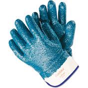 MCR Safety Predator Premium Nitrile-Coated Gloves, Blue/White, Large, 12 Pairs