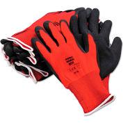 NorthFlex Red™ Nylon with Foam PVC, Gloves, NF11/10XL, 12 Pairs