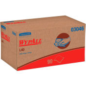 WypAll L40 Wipers, 10-4/5 x 10, Pop-Up Box, White, 90/Box, 9 Boxes/Carton - 03046
