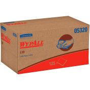 WypAll L10 Utility Wipes, 9 x 10-1/2, Pop-Up Box, White, 125/Box, 18 Boxes/Carton - 05320