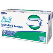 Scott® Multi-Fold Paper Towels, 9-2/5 x 9-1/5, White, 250/Pack, 16 Packs/Carton - 08009