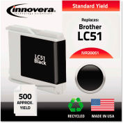 Innovera® Remanufactured LC51BK Ink, 500 Page-Yield, Black,